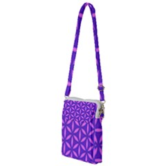 Pattern Texture Backgrounds Purple Multi Function Travel Bag
