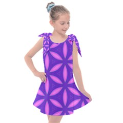 Pattern Texture Backgrounds Purple Kids  Tie Up Tunic Dress