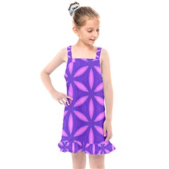 Pattern Texture Backgrounds Purple Kids  Overall Dress
