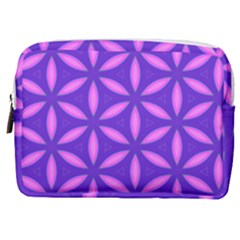 Pattern Texture Backgrounds Purple Make Up Pouch (Medium)