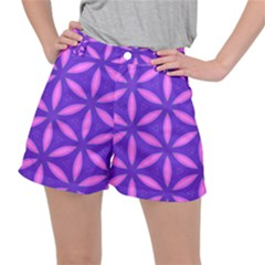 Pattern Texture Backgrounds Purple Ripstop Shorts