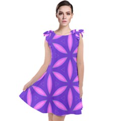 Pattern Texture Backgrounds Purple Tie Up Tunic Dress