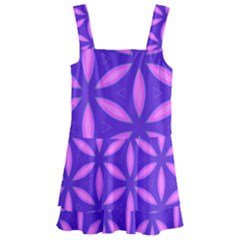 Pattern Texture Backgrounds Purple Kids  Layered Skirt Swimsuit