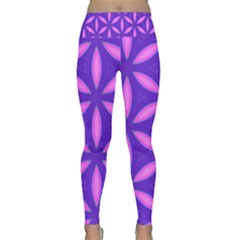 Pattern Texture Backgrounds Purple Lightweight Velour Classic Yoga Leggings