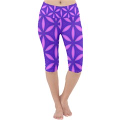 Pattern Texture Backgrounds Purple Lightweight Velour Cropped Yoga Leggings