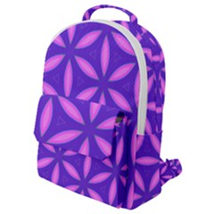 Pattern Texture Backgrounds Purple Flap Pocket Backpack (small) by HermanTelo