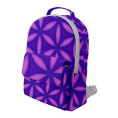 Pattern Texture Backgrounds Purple Flap Pocket Backpack (Large)