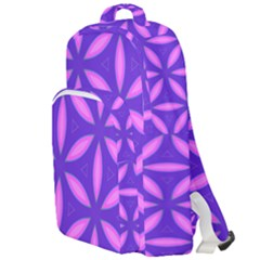 Pattern Texture Backgrounds Purple Double Compartment Backpack