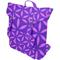 Pattern Texture Backgrounds Purple Buckle Up Backpack