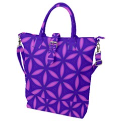 Pattern Texture Backgrounds Purple Buckle Top Tote Bag