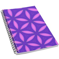 Pattern Texture Backgrounds Purple 5.5  x 8.5  Notebook