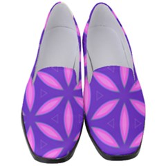 Pattern Texture Backgrounds Purple Women s Classic Loafer Heels