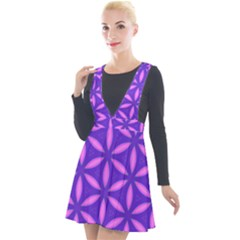 Pattern Texture Backgrounds Purple Plunge Pinafore Velour Dress