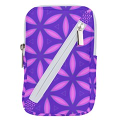 Pattern Texture Backgrounds Purple Belt Pouch Bag (Small)