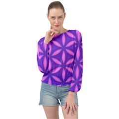 Pattern Texture Backgrounds Purple Banded Bottom Chiffon Top