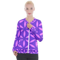 Pattern Texture Backgrounds Purple Casual Zip Up Jacket