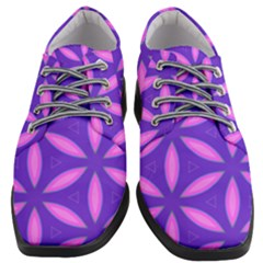Pattern Texture Backgrounds Purple Women Heeled Oxford Shoes