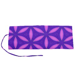 Pattern Texture Backgrounds Purple Roll Up Canvas Pencil Holder (S)