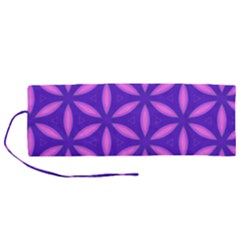 Pattern Texture Backgrounds Purple Roll Up Canvas Pencil Holder (M)