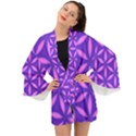 Pattern Texture Backgrounds Purple Long Sleeve Kimono View1