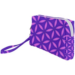 Pattern Texture Backgrounds Purple Wristlet Pouch Bag (small)