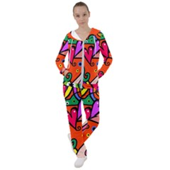 Seamless Doodle Women s Tracksuit