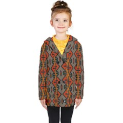 Seamless Digitally Created Tilable Abstract Pattern Kids  Double Breasted Button Coat