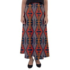 Seamless Digitally Created Tilable Abstract Pattern Flared Maxi Skirt