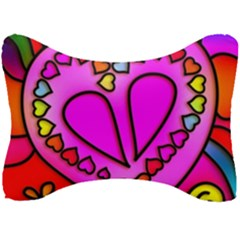 Stained Glass Love Heart Seat Head Rest Cushion