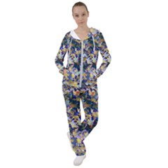 October Leaves In Blue Women s Tracksuit by bloomingvinedesign