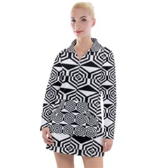 Hexagon Women s Long Sleeve Casual Dress by impacteesstreetweareight