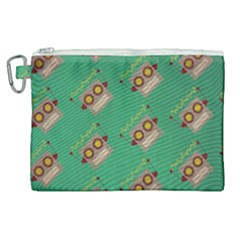 Toy Robot Canvas Cosmetic Bag (xl)