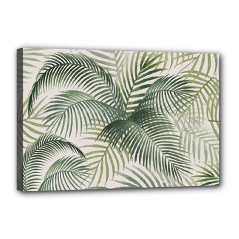 Vector Palm Leaves Pattern  Illustration Canvas 18  X 12  (stretched)
