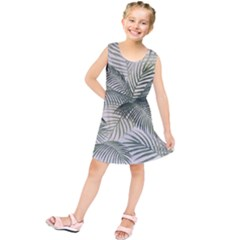 Vector Palm Leaves Pattern  Illustration Kids  Tunic Dress by Vaneshart