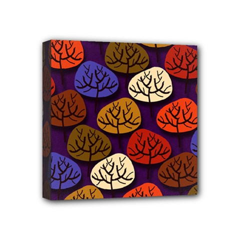 Tree Pattern Background Mini Canvas 4  X 4  (stretched)