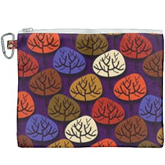 Tree Pattern Background Canvas Cosmetic Bag (xxxl)
