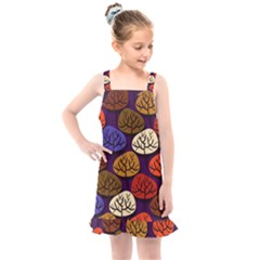 Tree Pattern Background Kids  Overall Dress