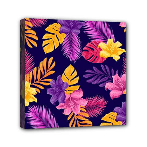 Tropical Pattern Mini Canvas 6  X 6  (stretched)
