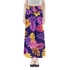 Tropical Pattern Full Length Maxi Skirt