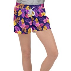 Tropical Pattern Women s Velour Lounge Shorts by Vaneshart