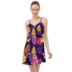 Tropical Pattern Summer Time Chiffon Dress