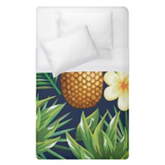 Tropical Pattern Pineapple Flowers Floral Fon Tropik Ananas Duvet Cover (single Size)