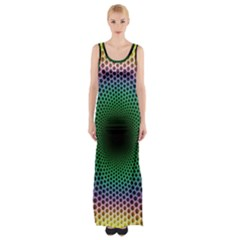 Abstract Patterns Thigh Split Maxi Dress