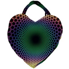 Abstract Patterns Giant Heart Shaped Tote