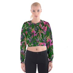 Vibrant Tropical Cropped Sweatshirt by Vaneshart