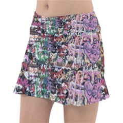 Graffiti Wall Background Tennis Skirt