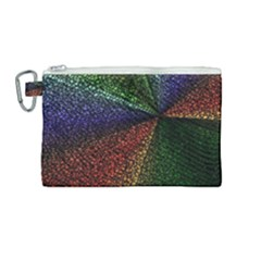 Abstract Colorful Pieces Mosaics Canvas Cosmetic Bag (medium)