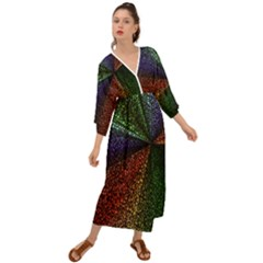 Abstract Colorful Pieces Mosaics Grecian Style  Maxi Dress