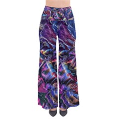 Multicolored Abstract Painting So Vintage Palazzo Pants by Vaneshart