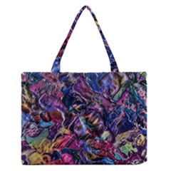Multicolored Abstract Painting Zipper Medium Tote Bag by Vaneshart